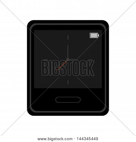 clock gadget time technology icon. Flat and Isolated design. Vector illustration