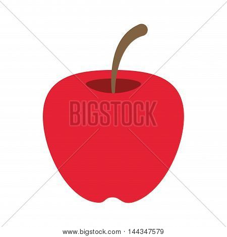 apple organic healthy natural food icon. Flat and Isolated illustration. Vector illustration