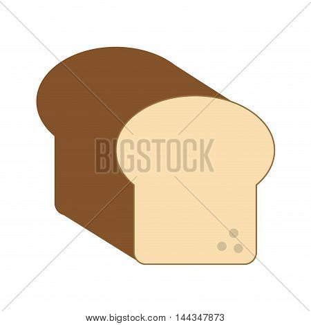 bread organic healthy natural food icon. Flat and Isolated illustration. Vector illustration