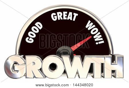 Growth Increase Improve Tracking Success 3d Illustration