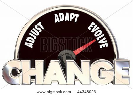 Change Innovation Disruption Speedometer 3d Illustration