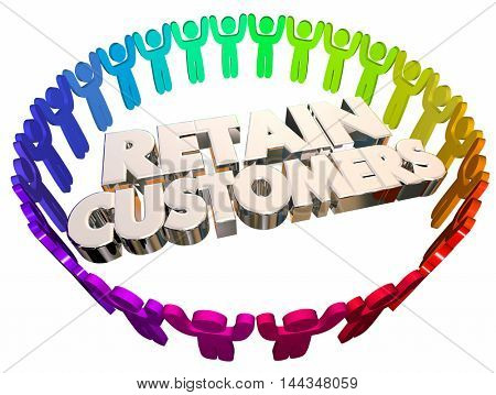 Retain Customers Employees Retention Speedometer 3d Illustration