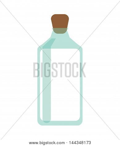 milk jar organic healthy natural food icon. Flat and Isolated illustration. Vector illustration