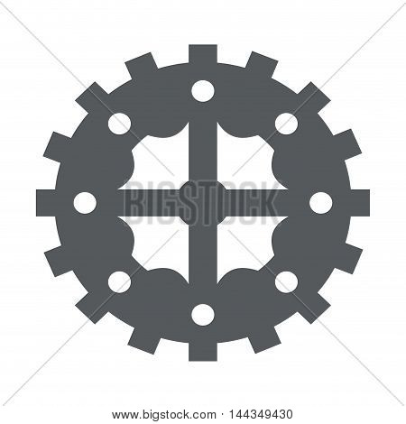 gear cog circle machine part icon. Flat and Isolated design. Vector illustration