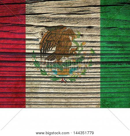 The Texture Of Old Wood (board).flag Of Mexico