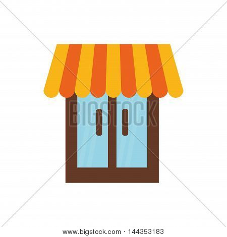 window pennant house icon. Isolated and flat illustration. Vector graphic