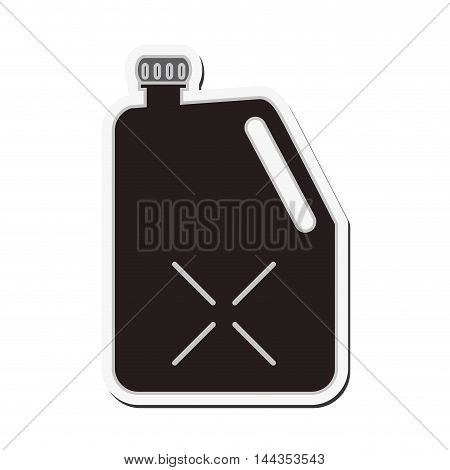 gasoline dispenser car automobile machine icon. Flat and Isolated design. Vector illustration