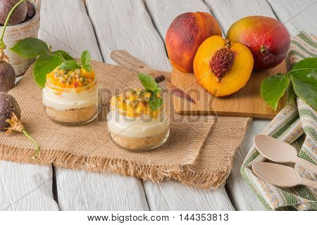 Desert With Yogurt And Passion Fruit