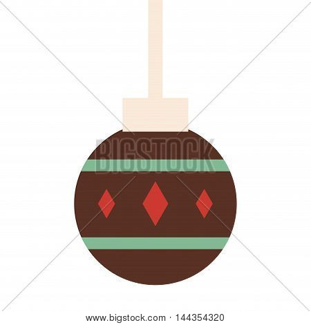 sphere merry christmas celebration icon. Flat and Isolated design. Vector illustration