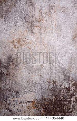 Old rusty grey metal detailed texture background.