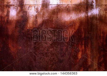 texture of rusty iron. aged rusty iron texture like a good grunge background. Old rusty metal plate for background. Rusty metal surface may be used as background.