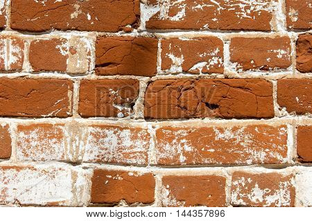 Fragment Of Venetian Old Brick Wall As Background