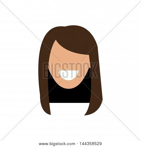 woman smile female girl head person icon. Isolated and flat illustration. Vector graphic
