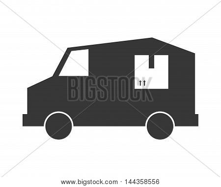 truck transportation delivery shipping icon. Flat and Isolated design. Vector illustration