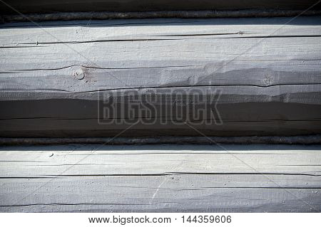Texture, Background. The House Is Assembled From Wooden Logs.