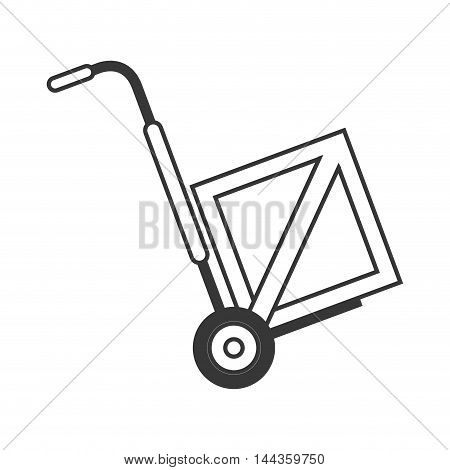 box package delivery shipping icon. Flat and Isolated design. Vector illustration