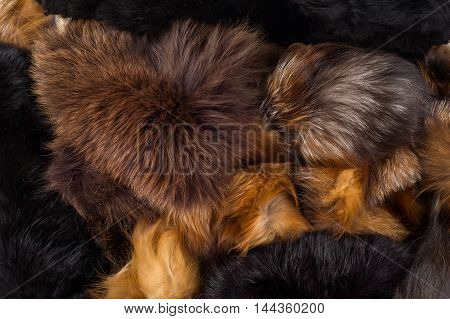 Texture, Background. Fur Fox. A Carnivorous Mammal Of The Dog Family With A Pointed Muzzle And Bushy
