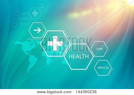 Medical Abstract Background; Suitable for Healthcare and Medical News Topic