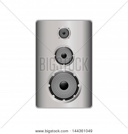 speaker music sound gadget icon. Isolated and flat illustration. Vector graphic