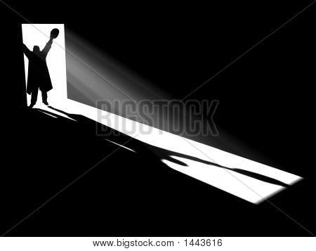 Silhouette In Doors