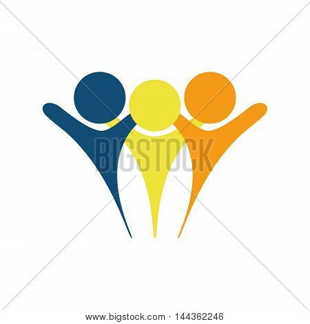 pictogram people abstract person icon. Isolated and flat illustration. Vector graphic