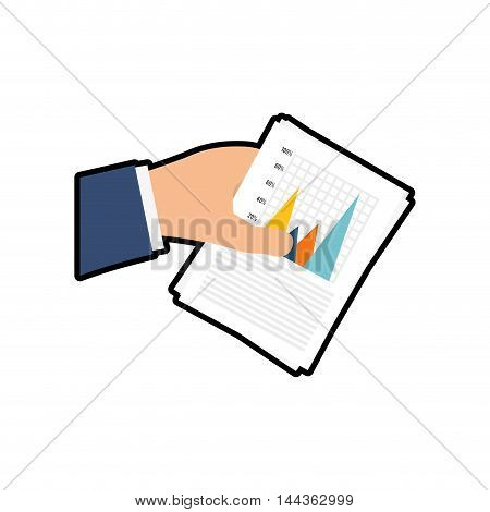 hand infographic document paper icon. Isolated and flat illustration. Vector graphic