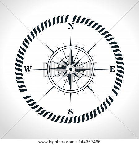 compass symbol retro icon vector illustration graphic