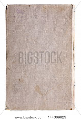 Cover of the old book on white background