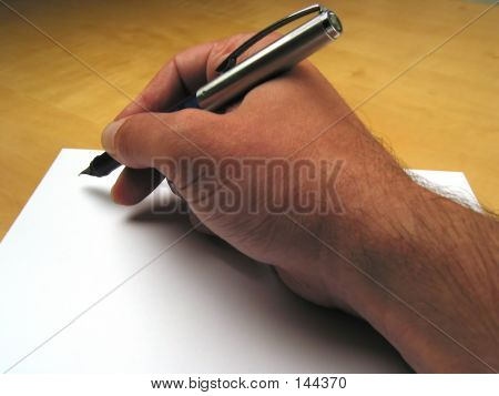 Hand Beginning To Write