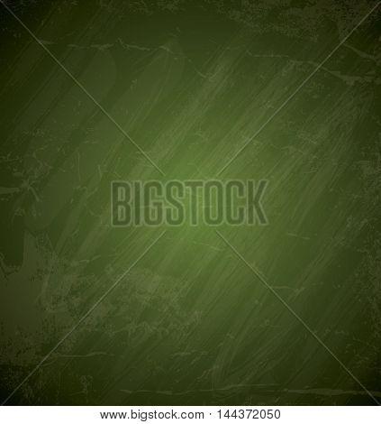 Green chalkboard background Grunge texture.