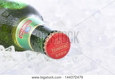 Tsingtao Beer On Ice