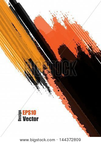 Bright grungy vector background. Elements for design. Hand drawn ink blotchs. Eps10