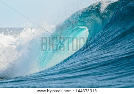 A big barrel wave break in the Pacific Ocean perfect for surfing.