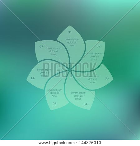 Eco infographic. Flower petals on a green background. Vector illustration for design website posters brochures.