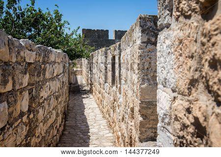 stone wall around the Old City of Jerusalem