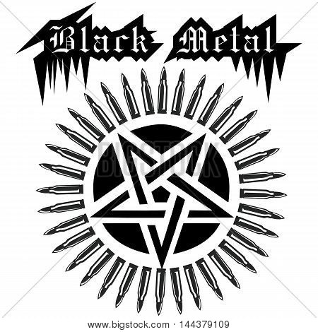 black metallic,star,  black, vector, illustration, pentagram, isolated,