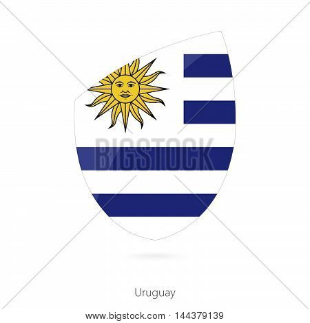 Flag Of Uruguay In The Style Of Rugby Icon.