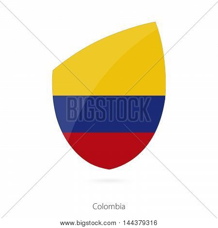 Flag Of Colombia In The Style Of Rugby Icon.
