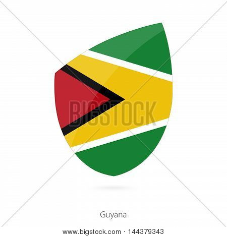 Flag Of Guyana In The Style Of Rugby Icon.