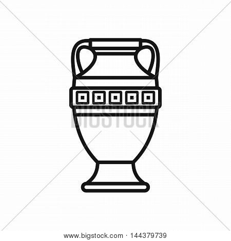 Ancient vase icon in outline style on a white background
