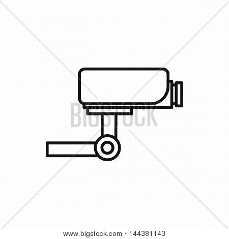 Surveillance camera icon in outline style on a white background