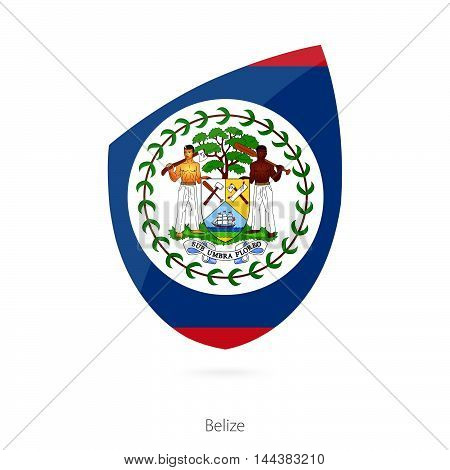 Flag Of Belize In The Style Of Rugby Icon.