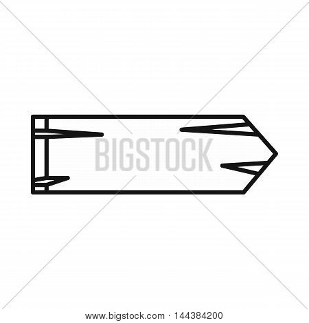 Old right arrow icon in outline style on a white background