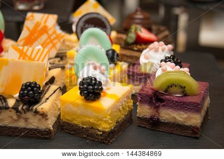 A assorted Mini cake delicious and beautiful.