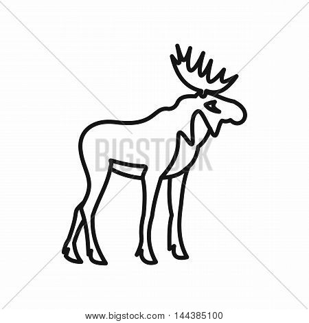 Elk icon in outline style on a white background