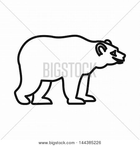 Bear icon in outline style on a white background