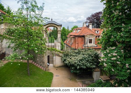 beautiful park in Prague during the day