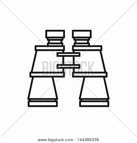 Binoculars icon in outline style on a white background