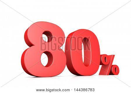 3d illustration business number 80 percent