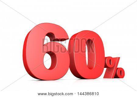 3d illustration business number 60 percent